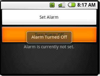 (Fig AL.4) If you decide you don't want your alarm to be set, you can simply turn it off
