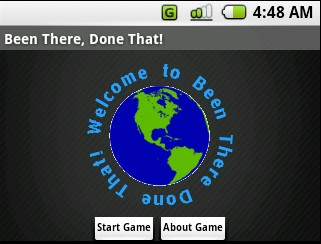(1) Welcome screen