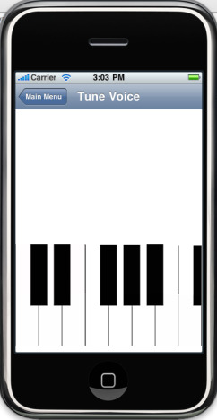 The Tune Voice feature, with a keyboard that users can play on to hear specific notes.