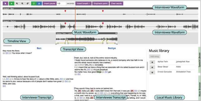 visualization lab content based tools for editing audio stories